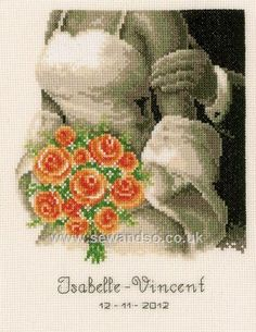 Buy Wedding Bouquet Sampler Cross Stitch Kit Online at www.sewandso.co.uk