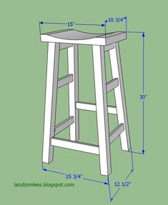 bar stool measurements by Lazy Liz on Less - Crissie Alone Home Saddle Bar Stools, Diy Bar Stools, Diy Stool, Wood Stool, Diy Chair, Wooden Projects, Furniture Projects, Diy Furniture, Plywood Furniture