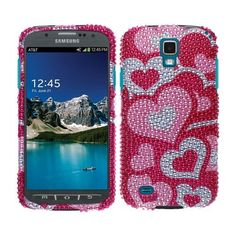 You like some luxurious and sparkling things for your #Samsung #Galaxy #S4 #Active #I537 #I9295. Buy a #Hard #Case #Cover - Pink Pattern Hearts With Full Bling Stones at @Acetag! It will make your happy with high quality of protection and unique design! Come to @Acetag to get it with only $6.99!