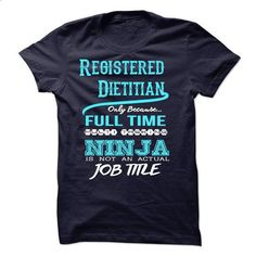 Ninja Registered Dietitian T-Shirt - teeshirt dress #teeshirt #clothing