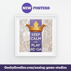 Awesome Posters, Beautiful Posters, Tabletop Board Games, Game Room Decor, Diy Games, New Poster, Fun Cookies, Game Design, Postcards