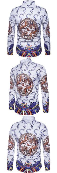 2017 New Arrived Male Fashion Designs VacayHot Printing Cotton Rockabilly  Vintage 50s Club Plus Size Work Panel Shirts  e8b84dde2856