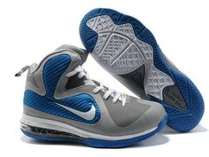 the best attitude 1e543 ac4d4 Nike LeBron 9 Cool Grey Blue White Metallic Silver. Style code  469764-007