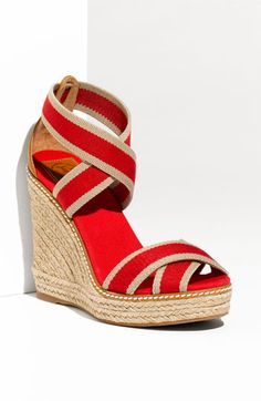tried these at Nordie's yesterday. Tory Burch Constrast Espadrille. love.
