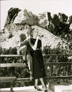Cary Grant and Eva Marie Saint.