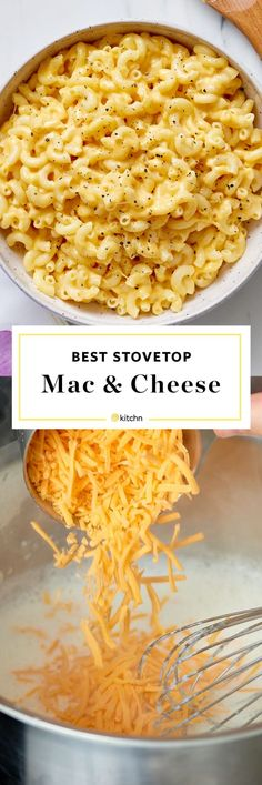 This stovetop mac and cheese is super easy. Just add some cheddar, Monterey Jack, or Colby to your macaroni with a healthy dose of milk and whatever toppings your heart desires. Think ham, bacon, onion or peas! Good Macaroni And Cheese Recipe, Quick Mac And Cheese, Stovetop Mac And Cheese, Creamy Macaroni And Cheese, Macaroni Recipes, Mac And Cheese Sauce, Pasta Cheese, Creamy Cheese, Making Mac And Cheese