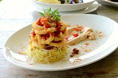 Crispy Calamari,Squid Rings,Mango & Papaya Salad with Harisa Mayonaise @ Montigo Resort Nongsa Batam