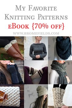 TEMPERANCE : Women's Slouchy Cable Hat Knitting Pattern – Brome Fields