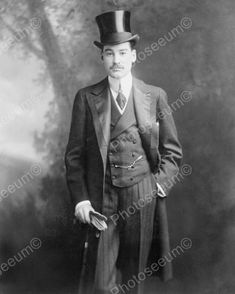 Victorian Man In Top Hat Formal1800s 8x10 Reprint Of Old Photo