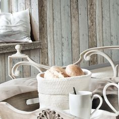 New England planks wallpaper in optic bleu and brown
