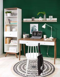 Black Red White - kolekcja Heda  #brw #blackredwhite #heda #furniture #retro #interior #interiordesign #inspiration #home #homeinspiration #design #homedecor #decoration #homedecoration #white #desk #room #gabinet