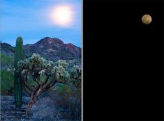 3 Techniques and Tips for Photographing the Moon in the Landscape - two exposures for the moon