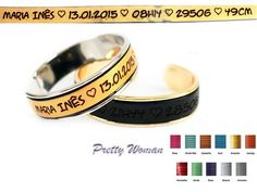 Bracelete com gravação dos dados de nascimento A bracelete existe em prateado,dourado ou dourado rosa) Pode escolher a cor do cabedal 15€