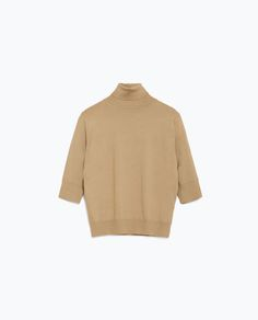 camel cropped turtle neck