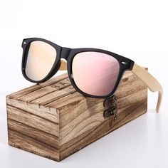 66559f36d1 BARCUR Bamboo Cat Eye Sunglasses Polarized Metal Frame Wood Glasses Lady  Luxury - US  12.46