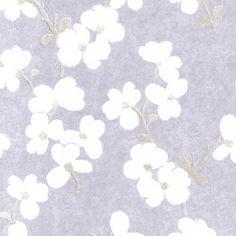 Designer Selection Blossom Wallpaper Mauve Lilac / Cream - Designer Selection from I love wallpaper UK