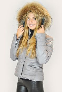 VENT COUVERT COURHEVEL GREY VEGETABLE LEATHER BOMBER