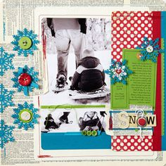 not ready for winter...but love this scrapbook page