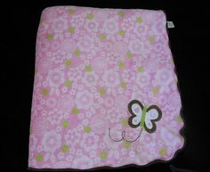 Just One You Butterfly Baby Blanket Flowers Pink Brown Sherpa Carters #JustOneYou