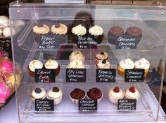 3 Tray Bakery Display Case with Rear Doors - x 17 x 16 I love how the cupcakes are displayed in this case!I love how the cupcakes are displayed in this case! Bakery Display Case, Cupcake Display, Baking Business, Cake Business, Home Bakery, Bakery Cafe, Farmers Market Display, Cake Stall, Cupcake Shops
