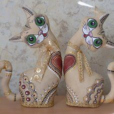Paper Clay, Paper Art, Cat Crafts, Decor Crafts, Wood Cat, Fabric Animals, Cat Quilt, Craft Markets, Metal Signs
