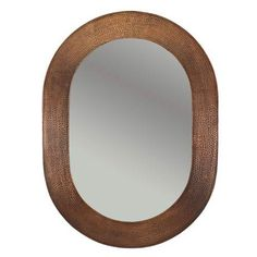 Hand Hammered Oval Copper 35 Inch Mirror Premier Copper Products Wall Mirror Mirrors