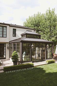 Doran Taylor Inc., Established in is an Interior Design & Home Design firm.located in Salt Lake City, Utah. Dream Home Design, My Dream Home, Style At Home, Solarium Room, Veranda Design, Conservatory Design, Glass Room, House Goals, Home Fashion