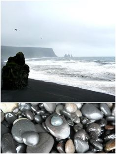 vik black peeble beach iceland