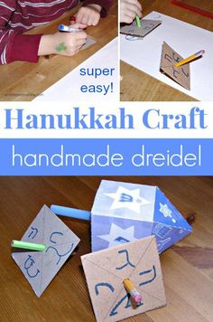 Easy recycled dreidel craft for Hanukkah