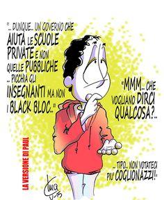 #IoSeguoItalianComics #satira #Politica #riforma #scuola #Renzi #Governo #Blackblock