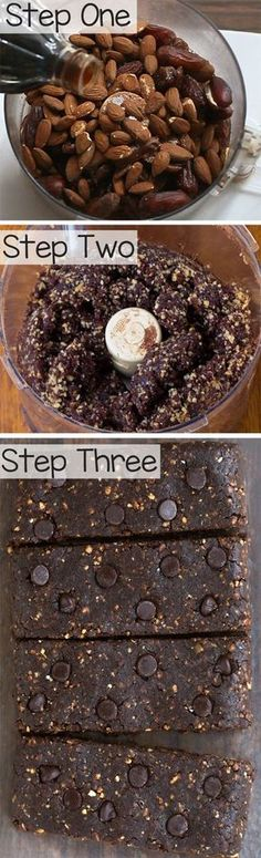 """These fudgy chocolate paleo bars are a wholesome & filling snack that tastes like dessert! {5 ingredients} No added sugars No eggs or flour No baking required The best part about these completely vegan & paleo snack bars is that they don't need to be refrigerated, making them a great """"on the go"""" healthy option. If...Read More »"""