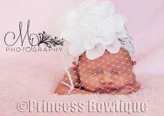 Timeless Vintage Newborn Baby Girl Headband: Buy Baby Headbands & Hair Bows at Princess Bowtique