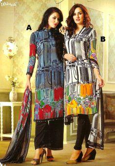 #Vaishali Print #Crepe Indian Salwar Kameez Suit 3213 AB