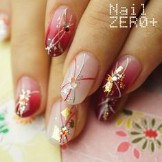 Pin by Tianyu Gao on Nails in 2020 New Year's Nails, Love Nails, Pretty Nails, Hair And Nails, Pedicure Nails, Gel Nails, Bridal Nail Art, Happy Nails, Japanese Nail Art