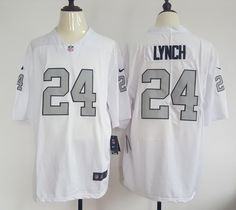 Oakland Raiders  24 Marshawn Lynch White Men s Stitched Color Rush Jersey  get from http  5a82234a2