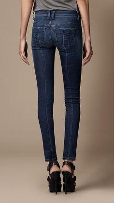 Westbourne Mid-Indigo Skinny Fit Jeans   Burberry