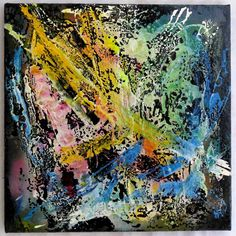 "G.A.Zanussi, ""life is... a crash test"", arte contemporanea quadro 55 x 55, opera su tela, 2017"