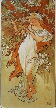Alfons Maria Mucha known also as Alphonse Mucha was a Czech Art Nouveau painter and decorative artist. Art And Illustration, Illustrator, Alphonse Mucha Art, Jugendstil Design, Art Nouveau Poster, Art Manga, Kunst Poster, Inspiration Art, Art Moderne