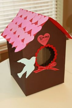 Birdhouse valentine box. Such a cool idea!  | BabyCenter Blog