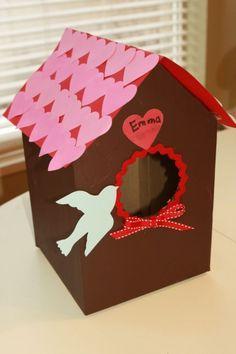 Birdhouse valentine box. Such a cool idea!    BabyCenter Blog