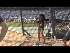 ESPN College World Series sideline reporter Jessica Mendoza (former Stanford softball standout & recent national-team member) was a guest participant at the . Softball Drills, Fastpitch Softball, Jessica Mendoza, College World Series, Team Member, Espn, The Man, Basketball Court