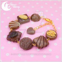 Favorite chocolate Bracelet by CuteMoonbunny