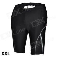 ACACIA 02960105 Cycling Nylon   Spandex Shorts Pants w/ Reflective Strips - Black (Size-XXL) Price: $22.40
