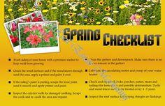 Real Estate Spring Postcards for Highest Quality Real Estate Marketing and Farming: Spring Checklist