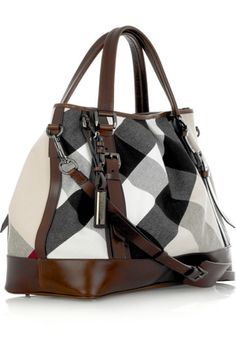 Burberry Large Lowry Canvas Tote is perfect for any Modern Gladiator