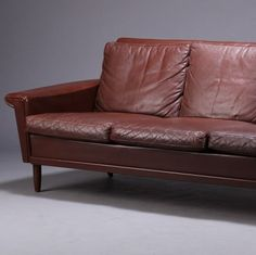 Cat Urine On Leather Sofa Simmons Bellamy Taupe Reviews Aniline Sauvage How To Restore An Of Danish 1950s 5 Couch Design Sofas