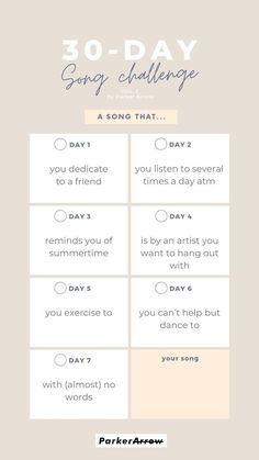 30 Day Music Challenge, 30 Day Challenge, Instagram Story Questions, Longing For You, For You Song, Story Template, Greatest Songs, Getting To Know You, How Are You Feeling