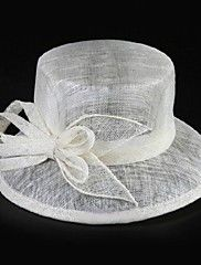Women Flax Hats With Wedding/Party Headpiece – AUD $ 38.35