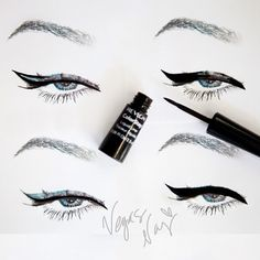 How to line a winged cat eyeliner
