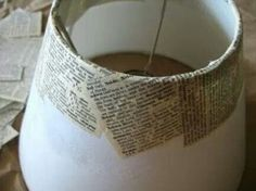 Mari Makes: Budget Anthropologie Tutorial: Well Defined Lampshade Mod Podge book pages onto lamp shade Diy Projects To Try, Crafts To Do, Diy Projects Books, Easy Crafts, Diy Abat Jour, Diy Luminaire, Decoupage, Ideias Diy, Crafty Craft